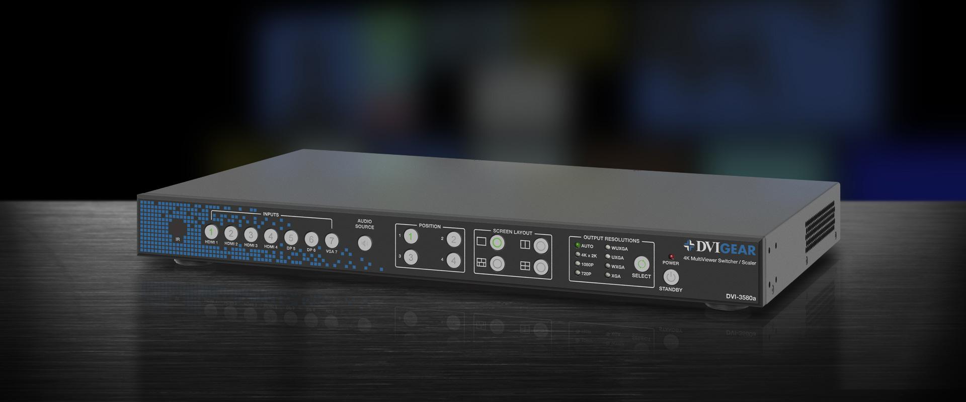 DVI-3580a 4K MultiViewer Switcher / Scaler