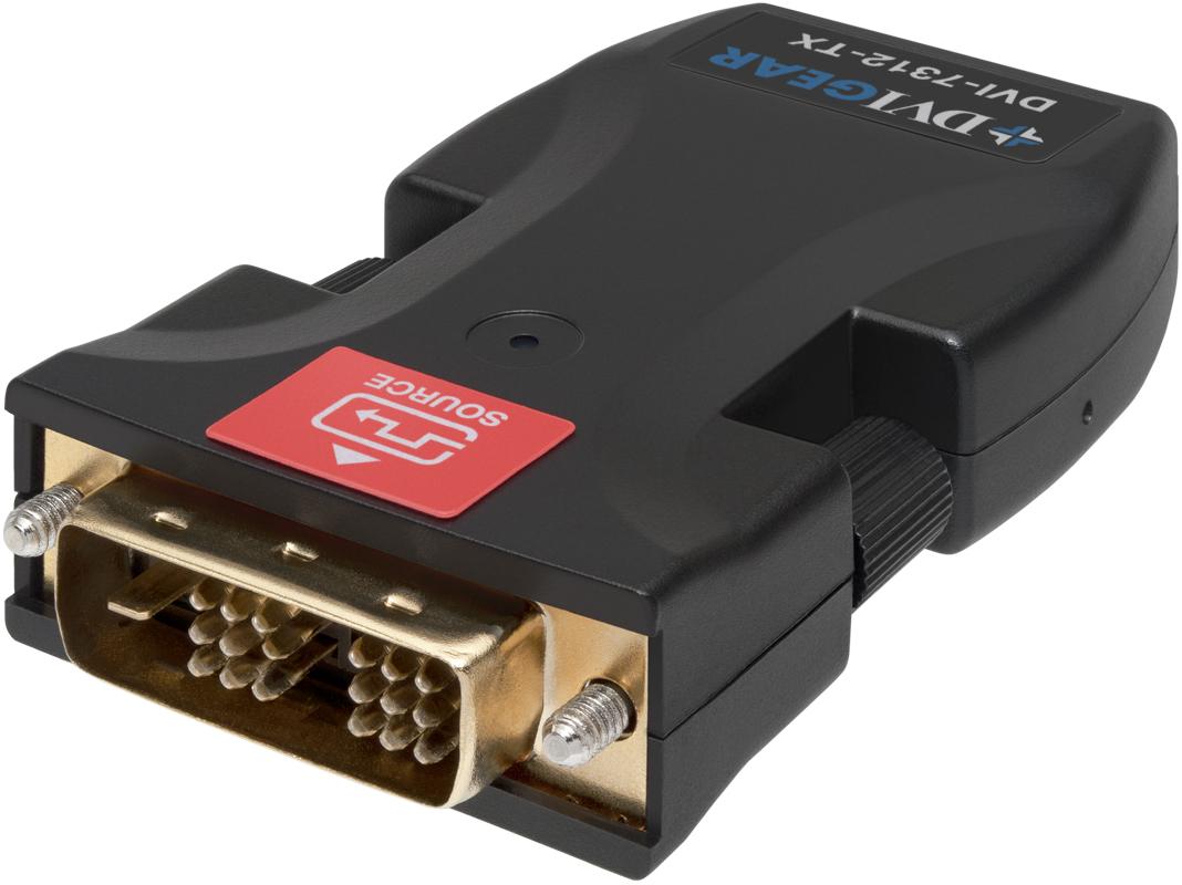 Single Link Dvi Fiber Optic Extender 2x Lc Dvigear