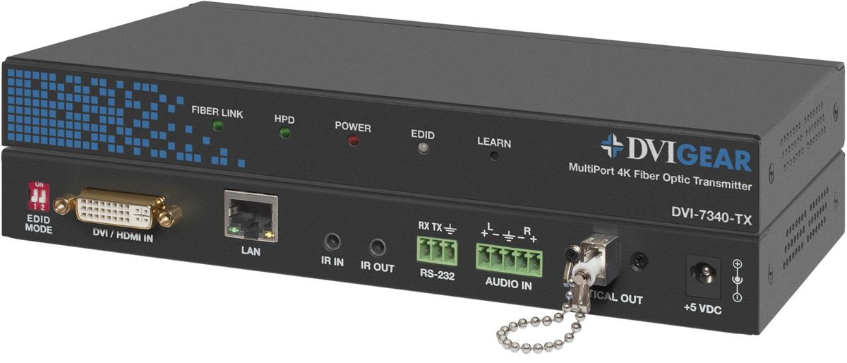MultiPort 4K HDMI Fiber Optic Extender, LC | DVIGear