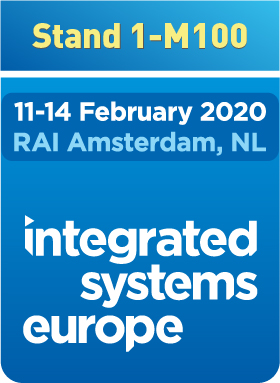Integrated Systems Europe - February 11th through the 14th - RAI Amsterdam, NL - Stand 1-M100